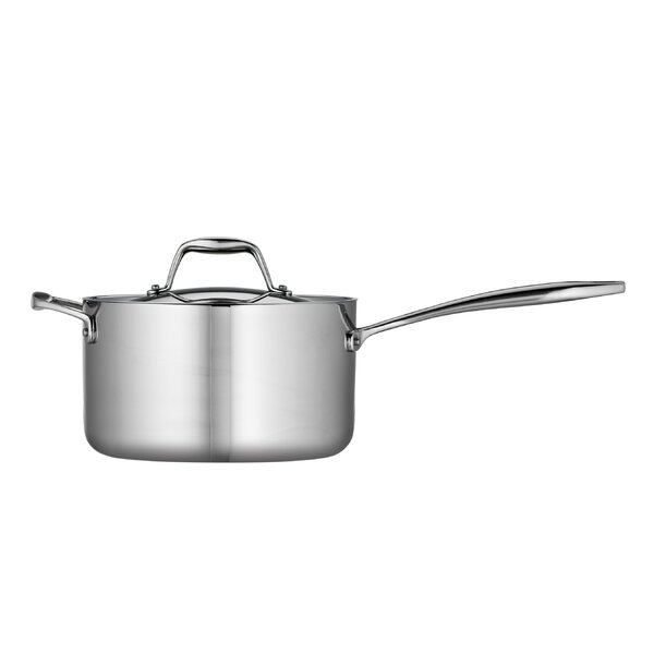 Gourmet Tri-Ply Clad 4-qt. Saucepan with Lid by Tramontina