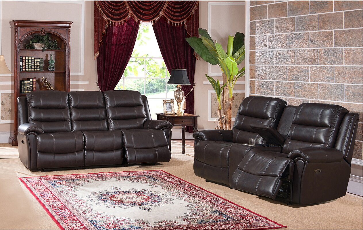 Amax astoria 2 piece leather living room set reviews 2 piece leather living room set