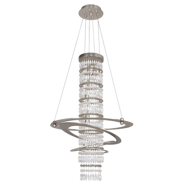 Juozaityte 3-Light Unique / Statement Geometric Chandelier By Orren Ellis