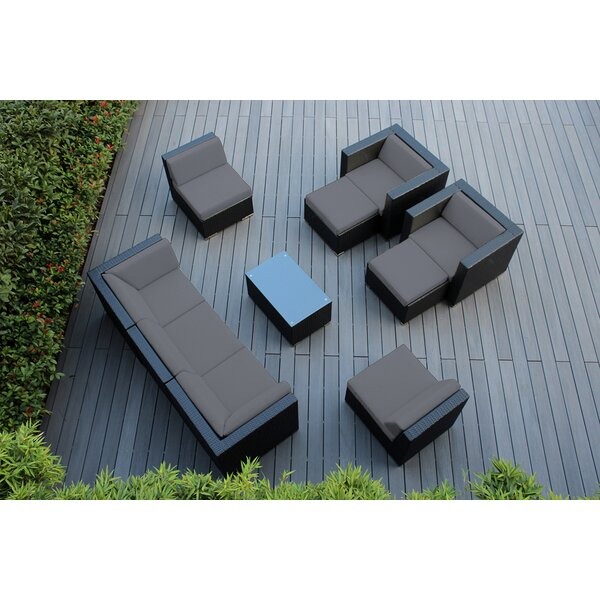 Kiara 10 Piece Sectional Seating Group with Sunbrella Cushions by Orren Ellis