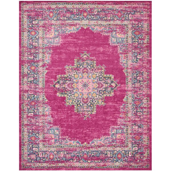 Dorset Oriental Fuchsia Area Rug by Mercury Row
