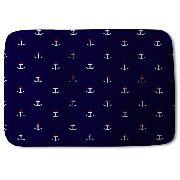 Broderick Anchors Designer Rectangle Non-Slip Bath Rug