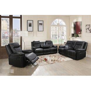 Vallarie 3 Piece Reclining Living Room Set (Set of 10) by Red Barrel Studio®