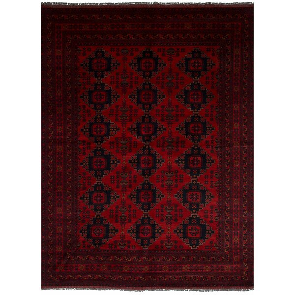 One-of-a-Kind Bilberry Hand-Knotted Wool Red Area Rug by Bloomsbury Market