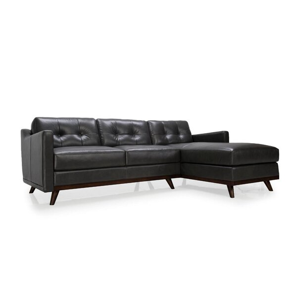 Fallon Leather Sectional by Brayden Studio