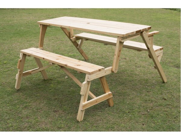 Convertible Table and Picnic Bench by Outsunny