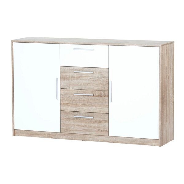 Jeniffer 4 Drawer Combo dresser by Wrought Studio