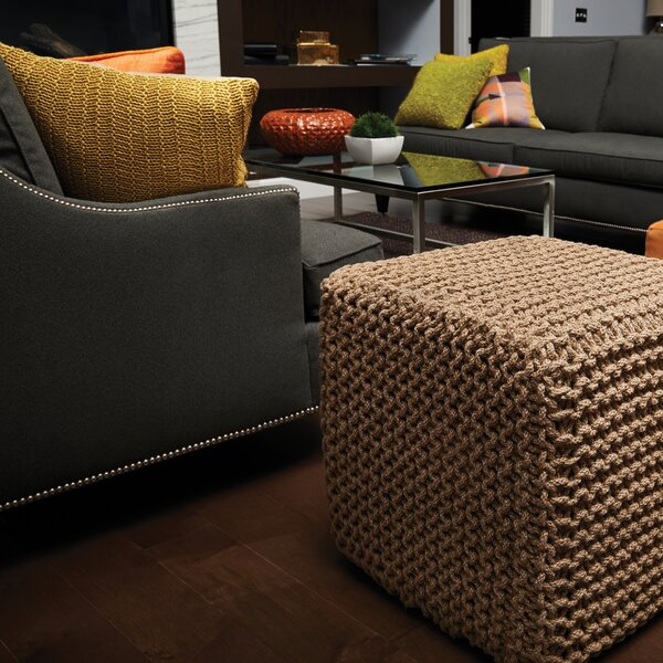 Laflin Corded Pouf by Alcott Hill