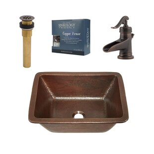 Read Reviews Hawking Metal Rectangular Undermount Bathroom Sink with Faucet By Sinkology