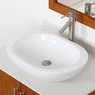 Ceramic Oval Vessel Bathroom Sink Elite