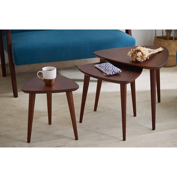 Waubun Solid Wood 3 Leg Nesting Tables By Corrigan Studio