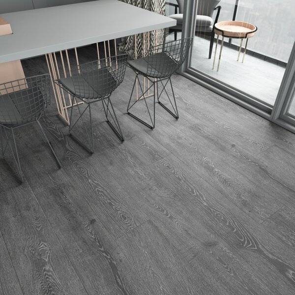 Augustus 7.71 x 72.83 x 12mm Oak Laminate Flooring in Smokey Gray by Serradon