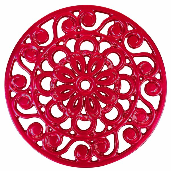 Decorative Cast Iron Metal Trivet by Trademark Innovations