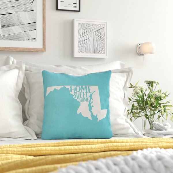 US Cities & States Home Sweet Indoor/Outdoor Throw Pillow