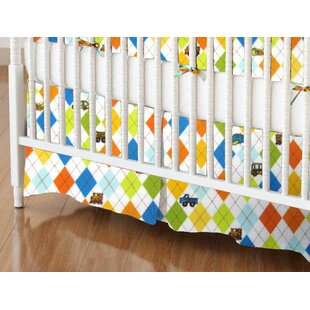 Affordable Argyle Transport Crib Skirt BySheetworld