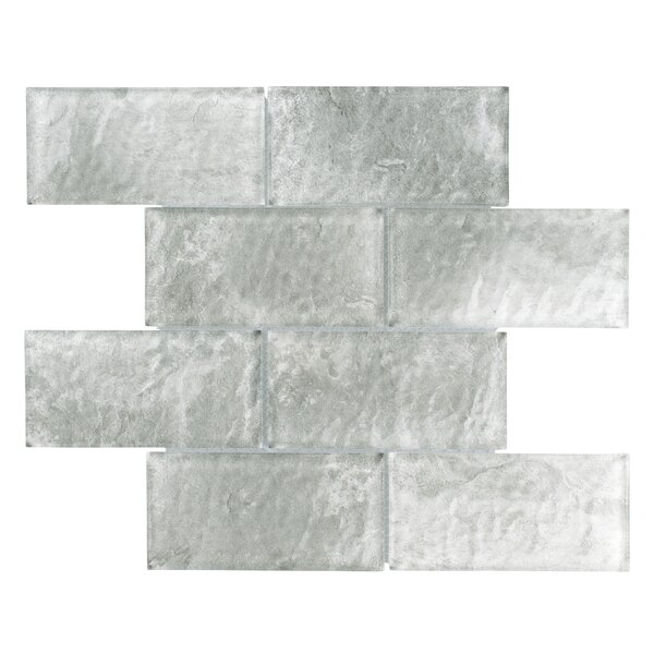 Nieve 2.88 x 5.88 Glass Field Tile in Gray by EliteTile
