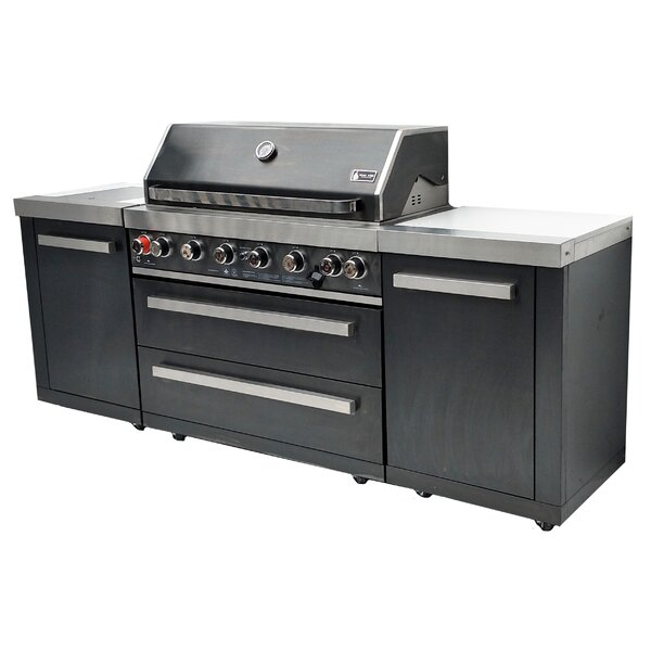 Outdoor BBQ 8-Burner Natural Gas Grill by Mont Alpi