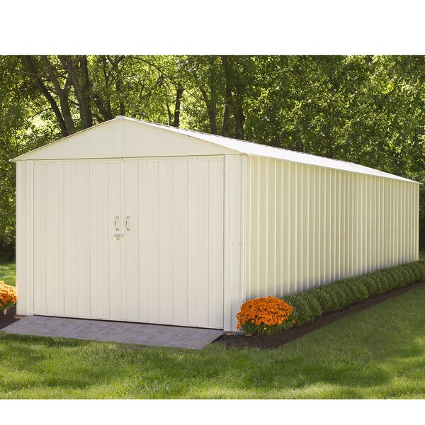 Commander 10 ft. W x 25 ft. D Vinyl-coated Steel Storage Shed by Arrow