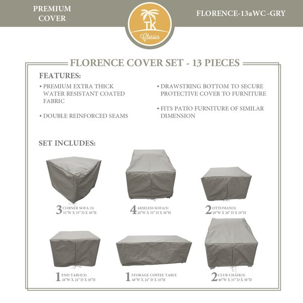 Forence 13 Piece Water Resistant Patio Furniture Cover Set by TK Classics