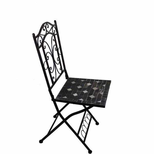 Gossage Mosaic Metal Patio Dining Chair by Fleur De Lis Living Fleur De Lis Living