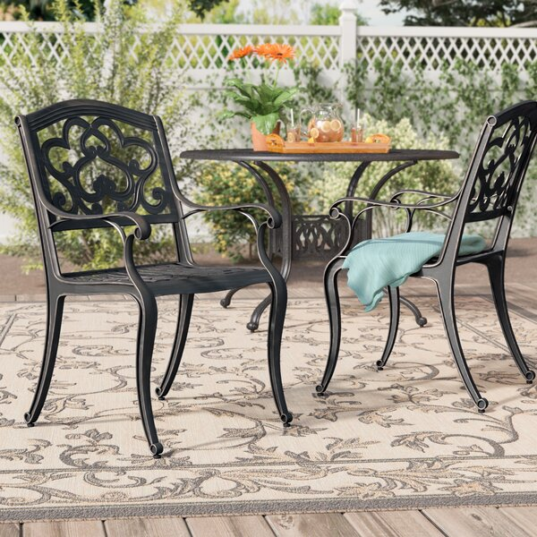Agawam Patio Dining Chair (Set of 2) by Fleur De Lis Living