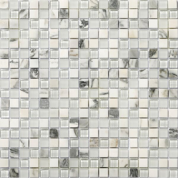 Lucente 0.6 x0.6/12 x 12 Glass Stone Blend Mosaic Tile in Ambrato by Emser Tile