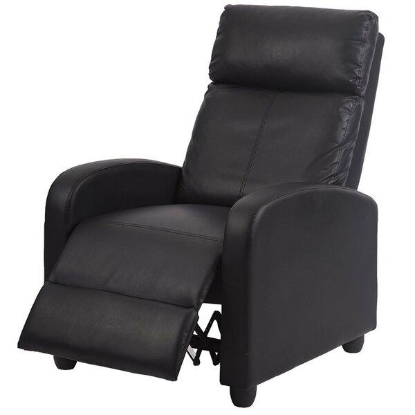 Korhonen Leather Couch Single Manual Recliner [Ebern Designs]