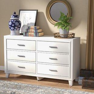 Affordable Hoytville 6 Drawer Double Dresser ByThree Posts