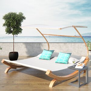 Rhett Friendship Harbor Double Chaise Lounge with Cushion