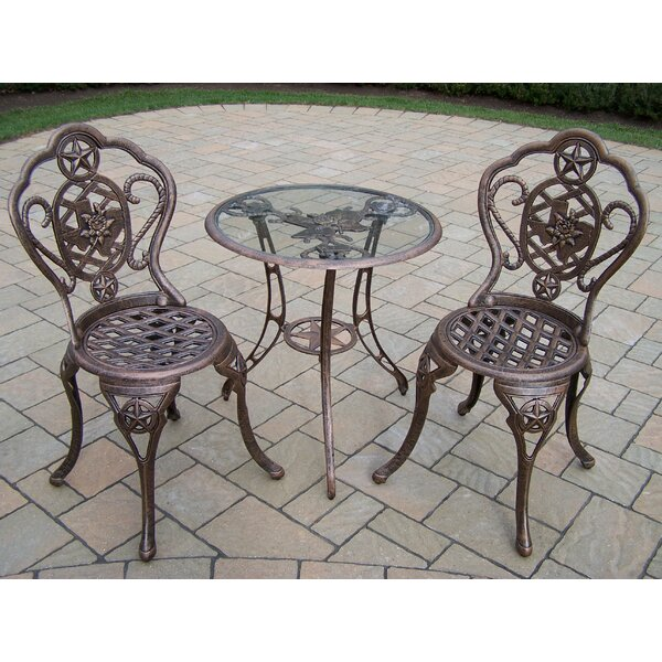Texas Rose 3 Piece Bistro Set by Oakland Living