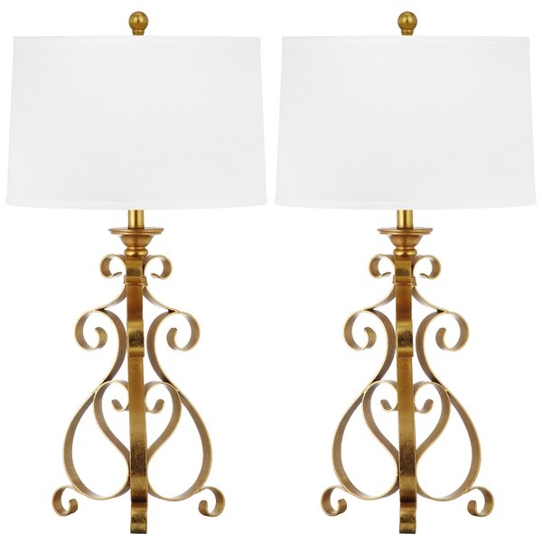 Scroll Sculpture 31.5 Table Lamp (Set of 2) by Safavieh
