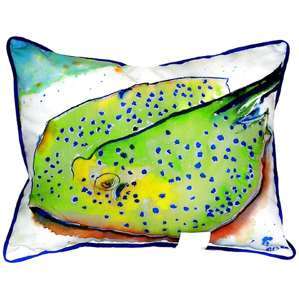 Betsy Drake Interiors Stingray Indoor Outdoor Lumbar Pillow Wayfair