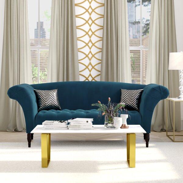 Perfect Quality Keltner Tufted Camelback Sofa by Willa Arlo Interiors by Willa Arlo Interiors