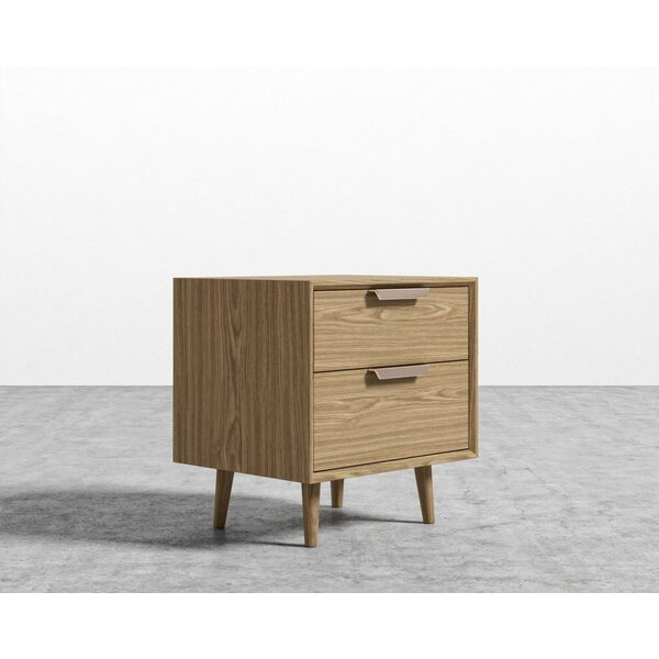 Jake 2 Drawer Night Stand by Foundry Select