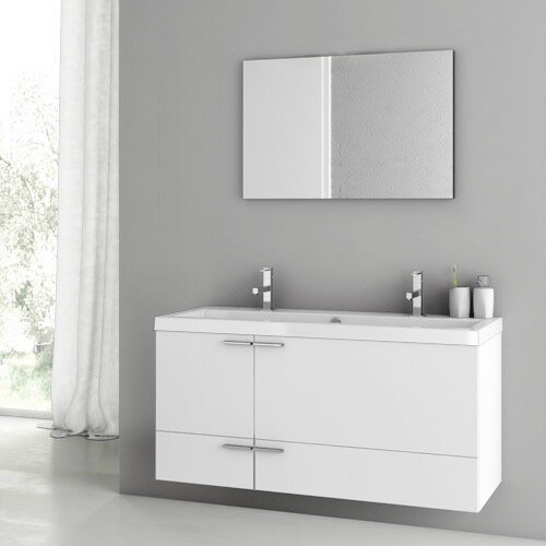 Letourneau 47 Double Bathroom Vanity Set with Mirror