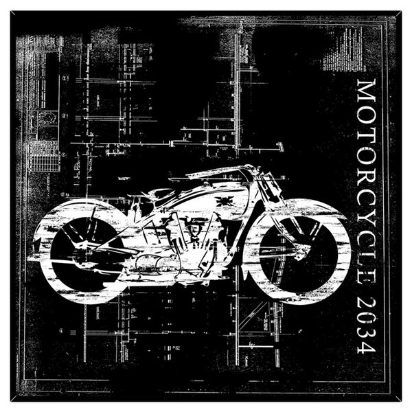 Motorcycles I Framed Graphic Art by PTM