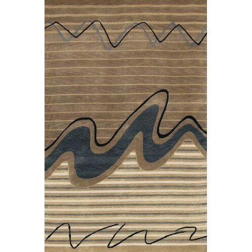 Caines Wool Brown/Tan Striped Area Rug by Fleur De Lis Living