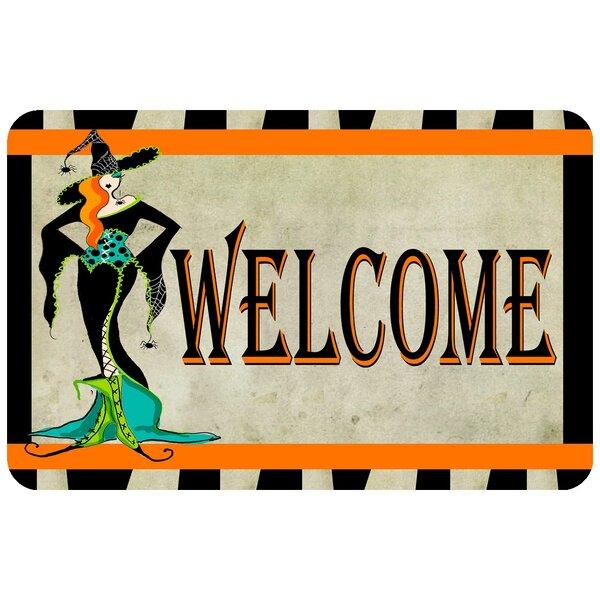 Halloween Welcome Doormat by Bungalow Flooring