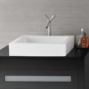 Best Reviews Format Ceramic Rectangular Vessel Bathroom Sink By Ronbow