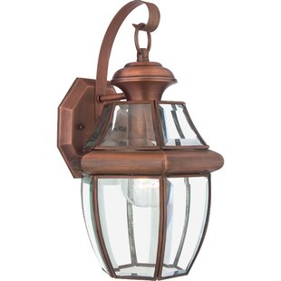Copper outdoor wall lighting youll love wayfair save aloadofball Gallery