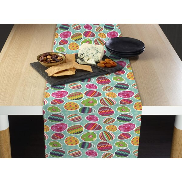 Eurich Vibrant Easter Eggs Milliken Signature Table Runner by The Holiday Aisle