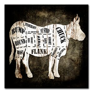 'Butcher Shop II' Textual Art on Wrapped Canvas by Laurel Foundry Modern Farmhouse