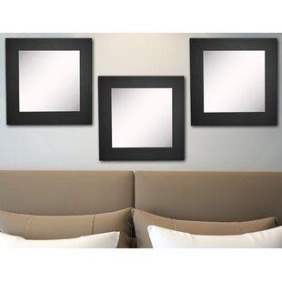 Find for Waite Black Satin Wide Wall Mirror (Set of 3) ByEbern Designs