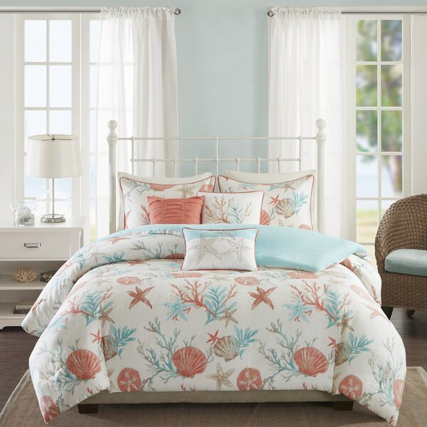 Keyport 6 Piece Duvet Cover Set by Beachcrest Home