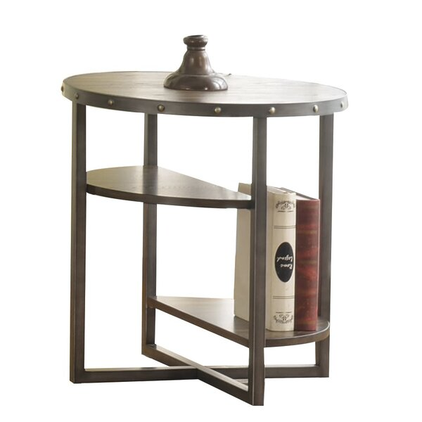 Canales 2 Tier Open Shelf Wooden End Table by Williston Forge