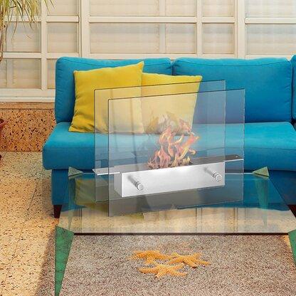 Lyon Portable Bio Ethanol Tabletop Fireplace by Regal Flame