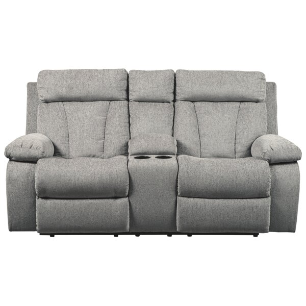 Evelina Reclining Loveseat with Console by Red Barrel Studio