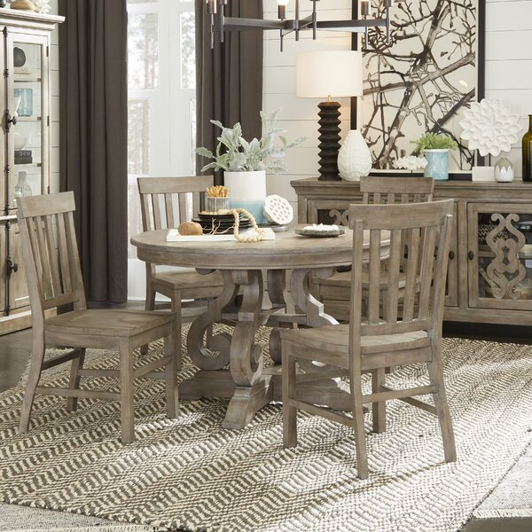 Ellenton 5 Piece Solid Wood Dining Set by Greyleigh