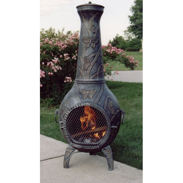 Butterfly Cast Iron Wood Burning Chiminea