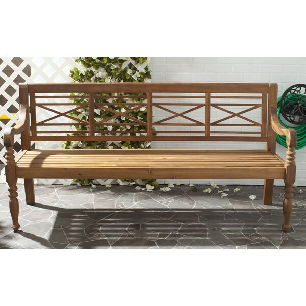 Putnam Wooden Garden Bench By Beachcrest Home